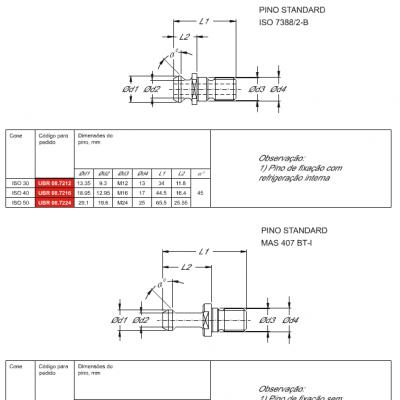 Pino de Fixação ISO 7388/2 e MAS 407 BT-I