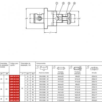 Haste modular, com adaptação Porta Fresa combinado DIN 6358