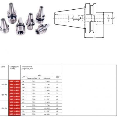 Cone MAS 403 BT, com adaptação - Cone Morse interno DIN 228 - MK - D