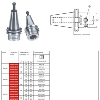 Cone DIN 69871-AD, com adaptação modular