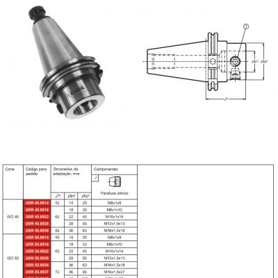 Cone Unificado DIN 69871-AD / ISO 7388 / ANSI B5.50 / CAT Métrico com adaptação modular